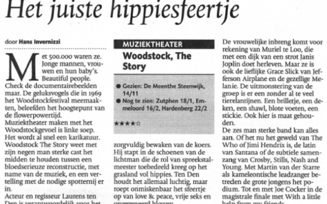 Press Review Woodstock the Story 'The Proper Hippie Feel'