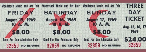 Original Woodstock Tickets
